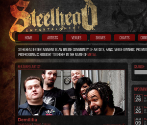 Screenshot of SteelheadEntertainment.com